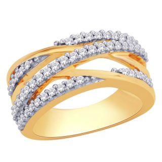 Asmi 18K Yellow Diamond Gold Ring ADR00683 SI-JK