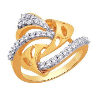 Asmi 18K Yellow Diamond Gold Ring ADR00696 SI-JK