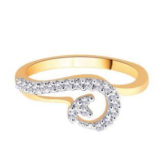Asmi 18K Yellow Diamond Gold Ring ADR00716 SI-JK