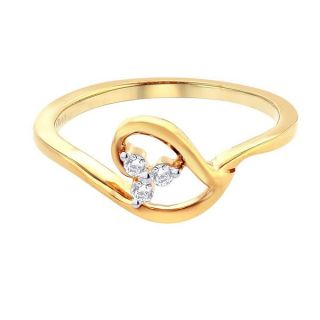 Asmi 18K Yellow Diamond Gold Ring ADR00799 SI-JK