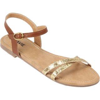 ce8d59a66e75 Buy Lavie Women s Gold Sandals Online   ₹1499 from ShopClues
