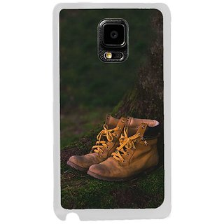 Fuson Designer Phone Back Case Cover Samsung Galaxy Note Edge ( Illustration Of Shoes In A Forest )