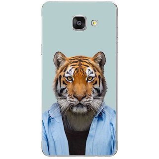 Fuson Designer Phone Back Case Cover Samsung Galaxy On7 Pro ( Tiger In Blue Shirt )