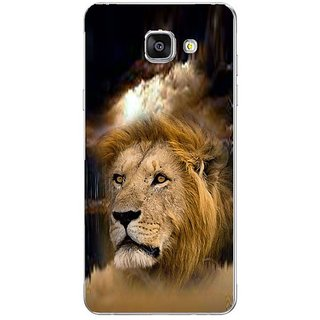 Fuson Designer Phone Back Case Cover Samsung Galaxy On7 Pro ( Lion Face Imprinted On Jungle )
