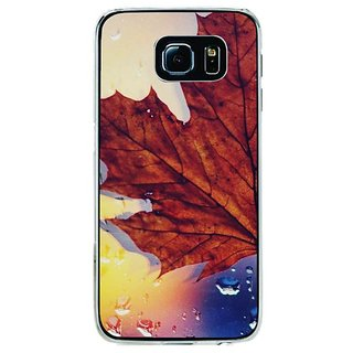 Fuson Designer Phone Back Case Cover Samsung Galaxy S6 Edge+ ( Leaf And Its Shadow )