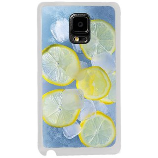 Fuson Designer Phone Back Case Cover Samsung Galaxy Note Edge ( Lemons And Ice Cubes )