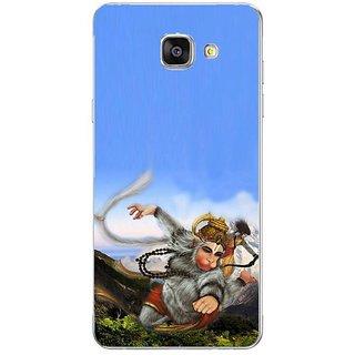 Fuson Designer Phone Back Case Cover Samsung Galaxy On7 Pro ( Lord Hanuman Flying Through Mountains )