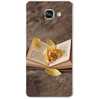 Fuson Designer Phone Back Case Cover Samsung Galaxy On7 Pro ( Rose Flower On The Book )