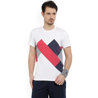 Aromax international Printed Men's Round Neck White T-Shirt