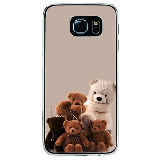 Fuson Designer Phone Back Case Cover Samsung Galaxy S6 ( ItS A Teddy Party )