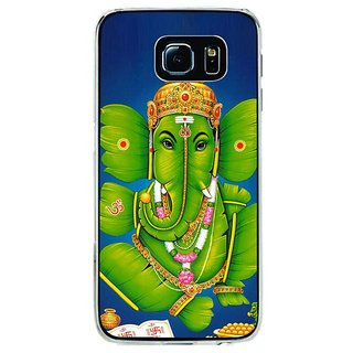 Fuson Designer Phone Back Case Cover Samsung Galaxy S6 ( Lord Ganesha From Plantain Leaves )