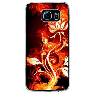 Fuson Designer Phone Back Case Cover Samsung Galaxy S6 ( An Artistic Fiery Flower )