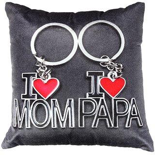 Valtellina I love u Mom  Papa Printed colour Cushion cover VLCU-040