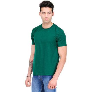 Scott Men Bottle Green Bio Wash Cotton Round Neck T-Shirt