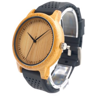 Krafted Time wooden watch with one free rubber strap