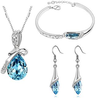 Crystal Ocean Blue Jewellery Set