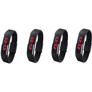 LED Band Wrist Watch Pack of 4 by mis