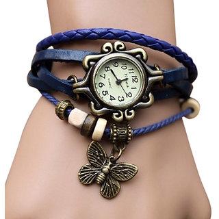 i DIVA'S   New LEDHAR Round Dial White Leather Strap Womens Quartz Watch
