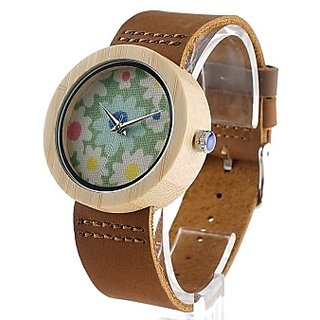 Handkrafted wooden watch for her