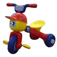 EZ' PLAYMATES FUNKY FOLDING TRICYCLE - RED/YELLOW