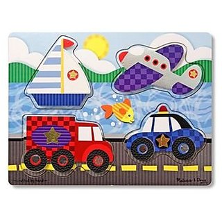 Melissa &Amp; Doug Vehicles Touch And Feel Puzzle