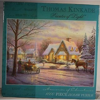 Thomas Kinkade Painter Of Light Puzzle: Memories Of Christmas