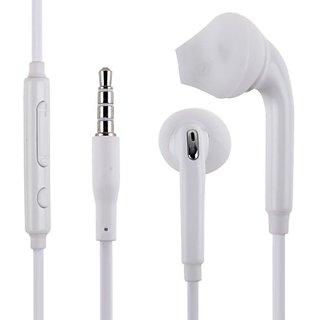 KSJ S6 Earphones Headset with mic and volume control for Smartphones (White)