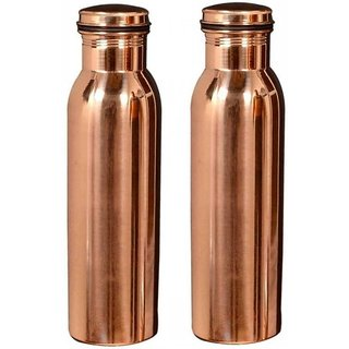 Clickmart Jointless Pure copper Water Bottle