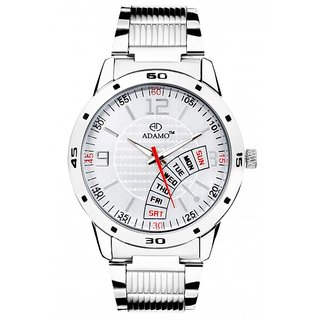ADAMO White Dial Analogue Mens Watch - (AD100)