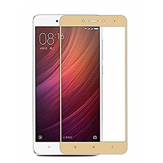BM  Redmi Note 4 Gold Colour Tempered Glass