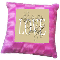 Good Night Quote Printed Cushion Cover By Shopmillions