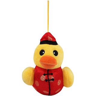 Plush Duck Baby Wearing Silk Jacket