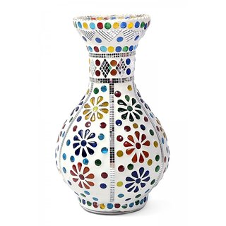 Very Beautiful Flower Pot Round For Gift Item With Colorful Mosaic Design