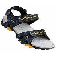 Vkc Men's Gray Velcro Sandals