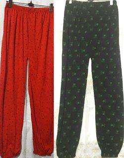 Multicolor Batik Print Cotton Pyjama Medium/Large Size (Pack of 2) for Women