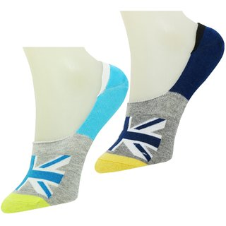 Neska Moda Premium Men & Women 2 Pair Multicolor Cotton Loafer Socks