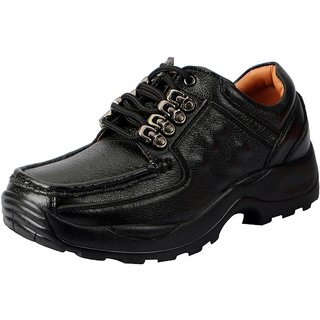 Action Mens Black Lace-up Smart Casuals