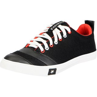 Fausto Men's Black Lace-up Sneakers
