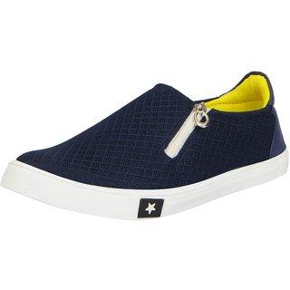 Fausto Men's Navy Formal Zip Shoes