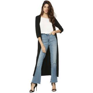 Meia Fashion Black Cotton Shrug For Women