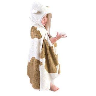 Cuddledry Cuddlemoo Organic Bamboo Toddler Hooded Towel - Cow Print