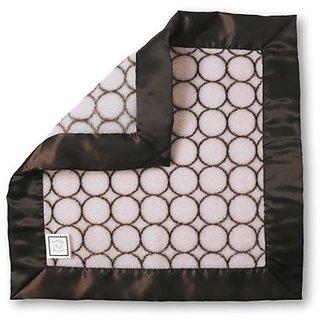 SwaddleDesigns Baby Lovie, Security Blanket In Brown Mod Circles, Pastel Pink