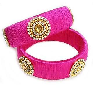 Lakshara Creations Womens Silk Thread Bangles