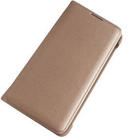 Lava P7 Plus Premium Quality Golden Leather Flip Cover