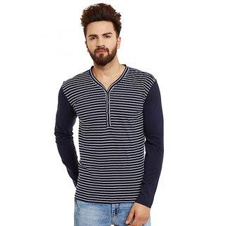 57150293e7d Buy Hypernation Striped Men s Henley Dark Blue