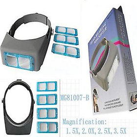 Optivisor Head Magnifier Watch Repair Eye Magnifying Glass + Many More Crafts