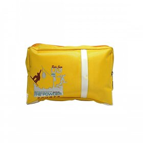 Water Resistance Cosmetic Bags Expands and Collapses Design Travel Accessory Organizer (Yellow)