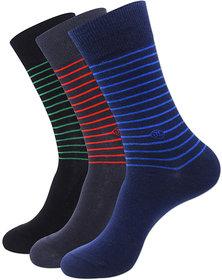 Justice League Men's Striped Crew Socks - Black