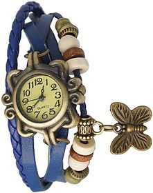 Butterfly bracelet designer blue watch for women and girlz