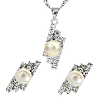 Cara Shooting Tide Pearl Pendant Made In Swarovski Stone & Sterling Silver